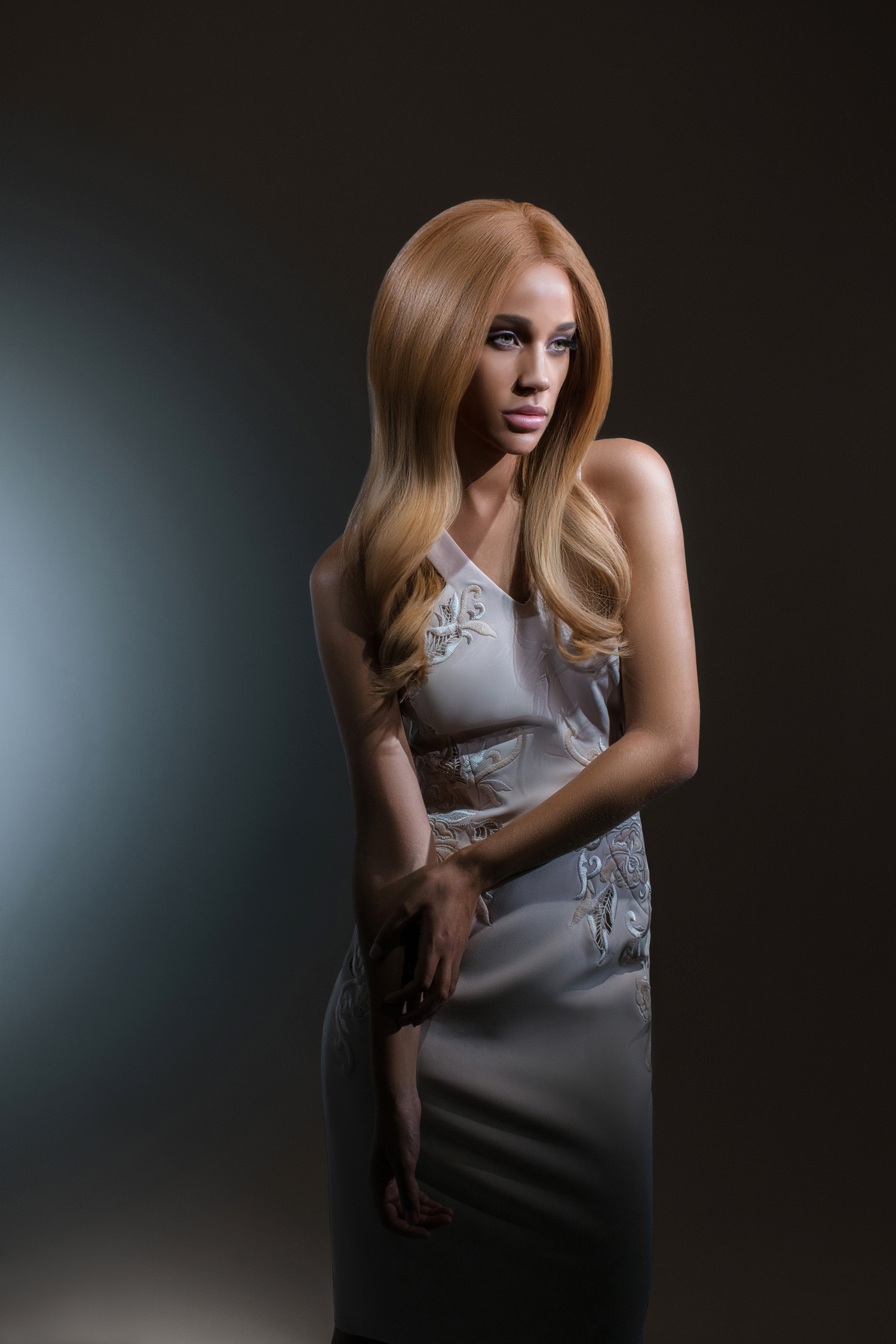 Amber Luxury Full Lace Blonde Ombre Wig- 360 Frontal Lace 1