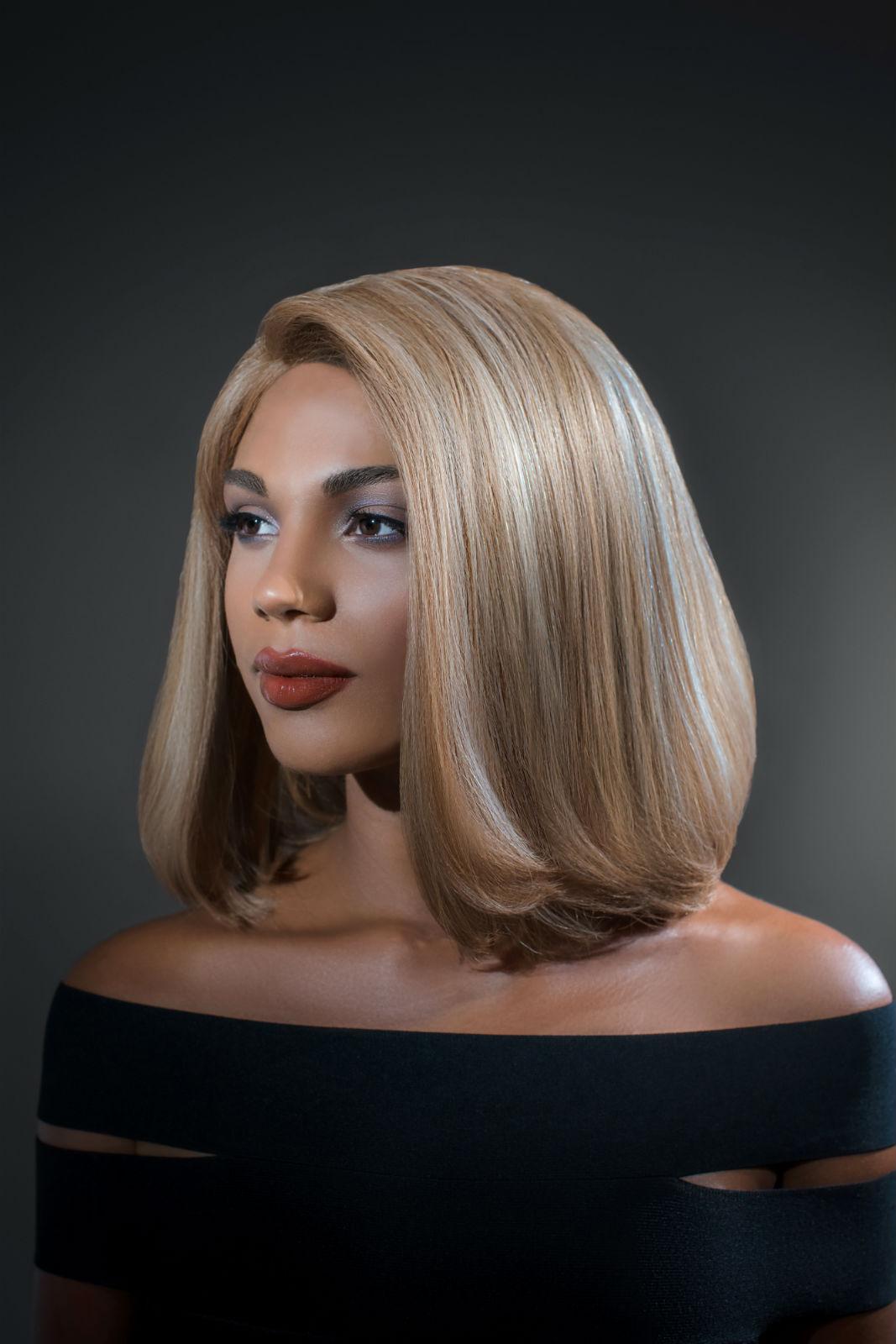 Luxury Human Hair Wig - Beige Blonde Bob Wig