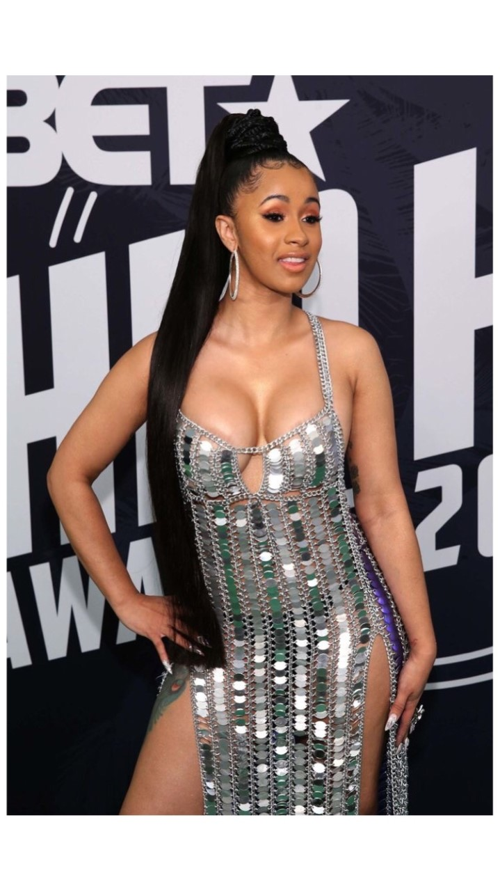 Cardi B wigs and reveals her natural hair 1